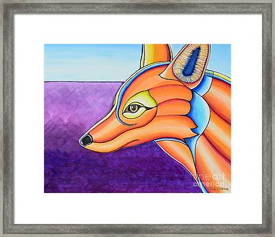 Framed Print featuring the painting Fox 1 by Joseph J Stevens