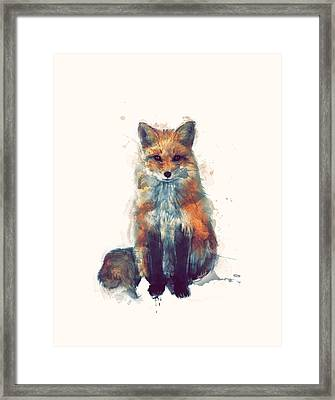 Fox Framed Print by Amy Hamilton