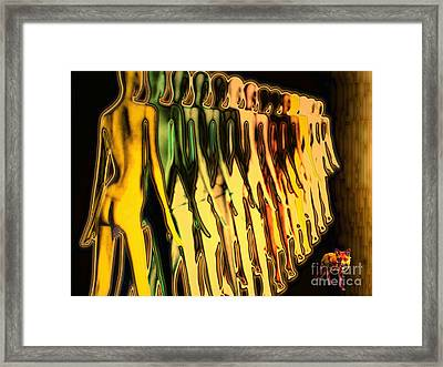 Fox And Phalanx Framed Print by Mojo Mendiola