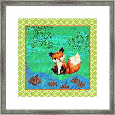 Fox-c Framed Print by Jean Plout