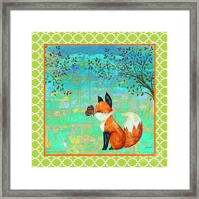 Fox-d Framed Print