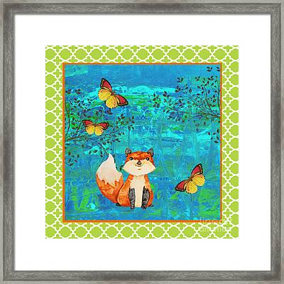 Fox-e Framed Print by Jean Plout
