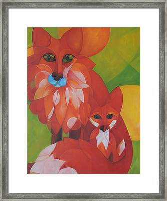 Fox Haven Framed Print by Denise Fisher