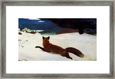 Fox Hunt Framed Print by Winslow Homer