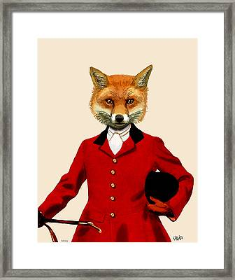 Fox Hunter 2 Portrait Framed Print by Kelly McLaughlan