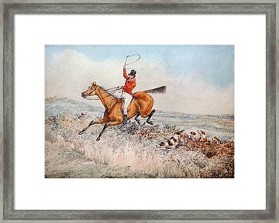 Fox Hunting Framed Print by Henry Thomas Alken