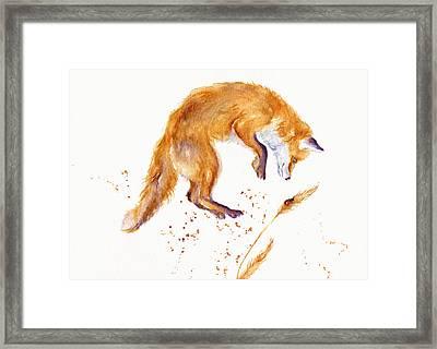 Fox Hunting Framed Print by Debra Hall