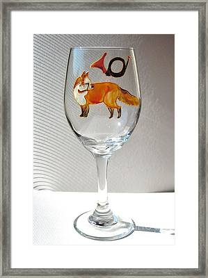 Fox Hunting On Glass Framed Print by Pauline Ross