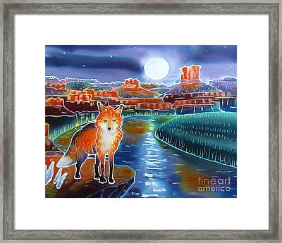 Fox In The Moonlight Framed Print by Harriet Peck Taylor