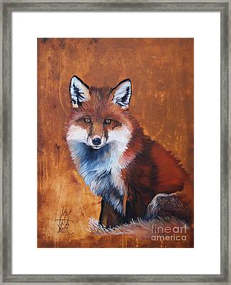 Fox Framed Print by J W Baker