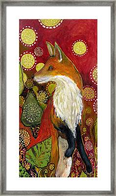 Fox Listens Framed Print