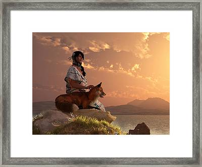 Fox Maiden Framed Print by Daniel Eskridge