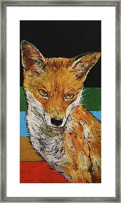Red Fox Framed Print by Michael Creese