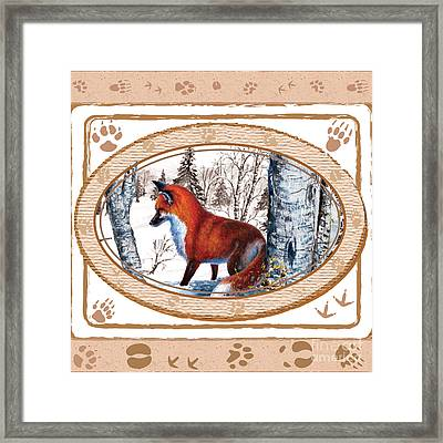 Fox On The Trail Framed Print