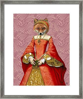 Fox Queen Framed Print by Kelly McLaughlan