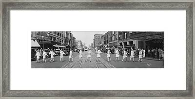 Fox Roller Skating Girls, Washington Dc Framed Print