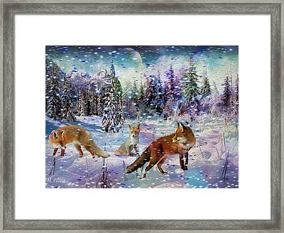Fox Storm Framed Print