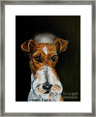 Fox Terrier Angel Framed Print by Jay  Schmetz