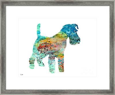Fox Terrier  Framed Print by Watercolor Girl