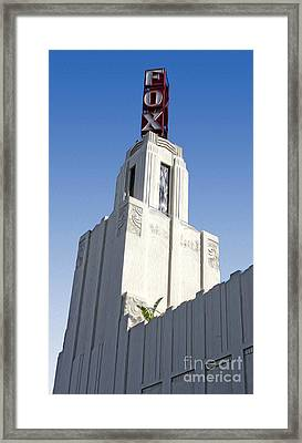 Fox Theater - Pomona - 03 Framed Print