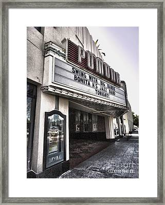 Fox Theater - Pomona - 10 Framed Print