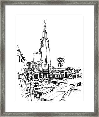 Fox Theater Westwood Village California Framed Print