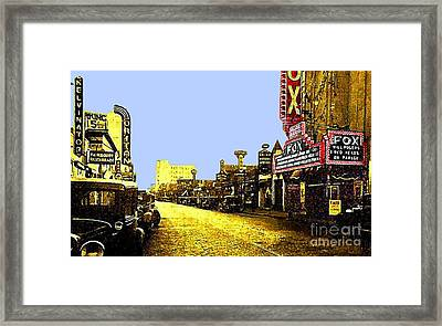 Fox Theatre In Hackensack N J In 1935 Framed Print