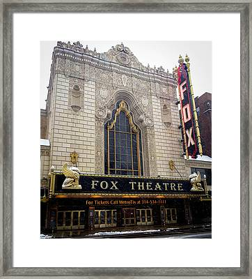 Fox Theatre St. Louis Framed Print by Cathy Smith