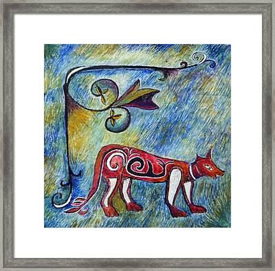 Fox Totem Framed Print by Catherine Meyers