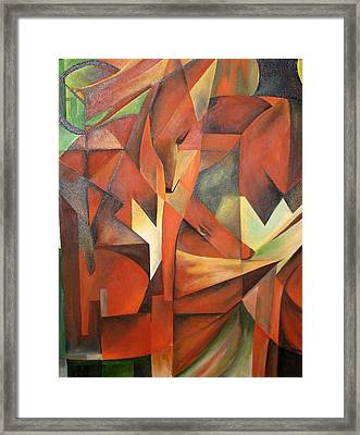 Foxes Framed Print