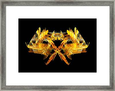 Framed Print featuring the digital art Foxfire by R Thomas Brass