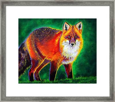 Foxfire Framed Print by Teshia Art