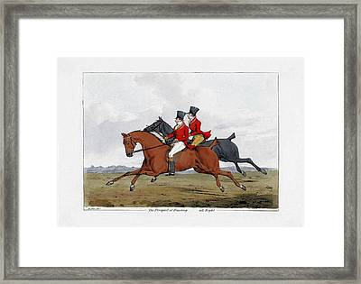 Foxhunting - All Right Framed Print by Charlie Ross