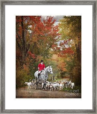 Foxhunting Autumn Colours Framed Print