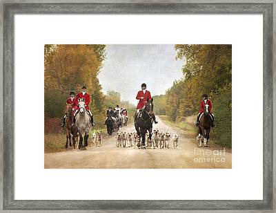 Foxhunting Framed Print by Heather Swan