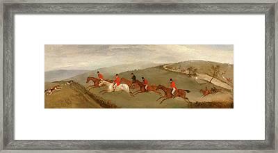 Foxhunting The Few Not Funkers, Richard Barrett Davis Framed Print
