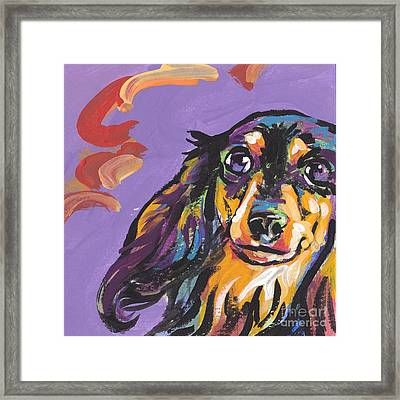Foxie Doxie Framed Print