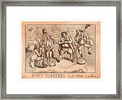 Foxs Martyrs Or The Patriots In Limbo, England  Publisher Framed Print
