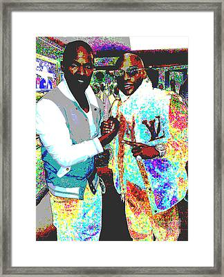 Foxx And Mayweather Framed Print by Bryan Eaton