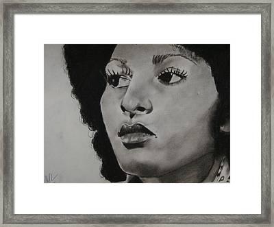 Foxy Brown Framed Print by Aaron Balderas