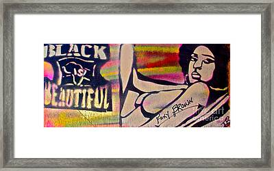 Foxy Brown Framed Print by Tony B Conscious