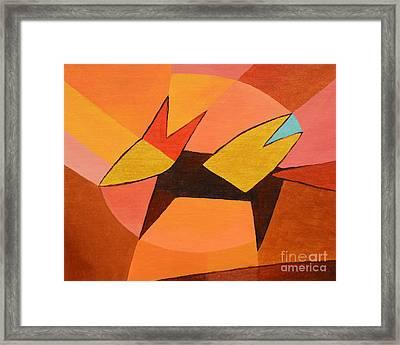 Foxy Framed Print by Lutz Baar