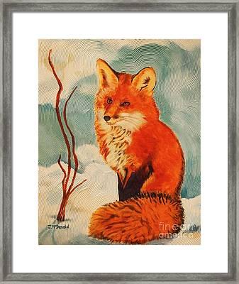 Foxy Presence Framed Print