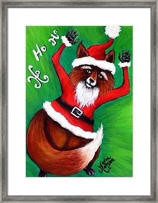 Foxy Santa Framed Print