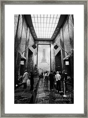 Foyer Of The Empire State Building New York City Framed Print