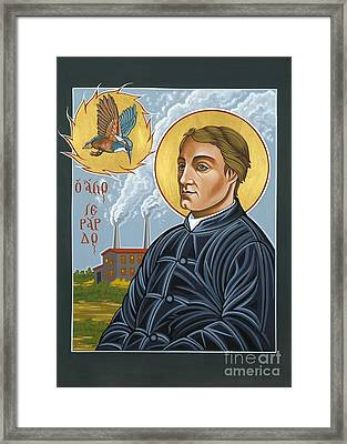 Framed Print featuring the painting Fr. Gerard Manley Hopkins The Poet's Poet 144 by William Hart McNichols