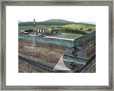 Fracking Process Framed Print by Nicolle R. Fuller