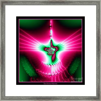 Fractal 11 Holy Spirit Framed Print by Rose Santuci-Sofranko