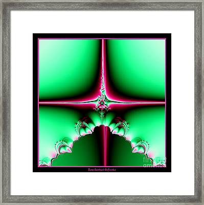 Fractal 14 Star Of Bethlehem  Framed Print by Rose Santuci-Sofranko