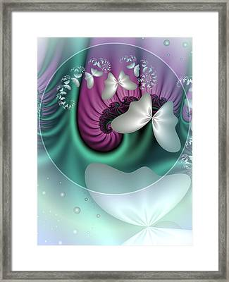 Fractal A Dream Of Butterflies Framed Print